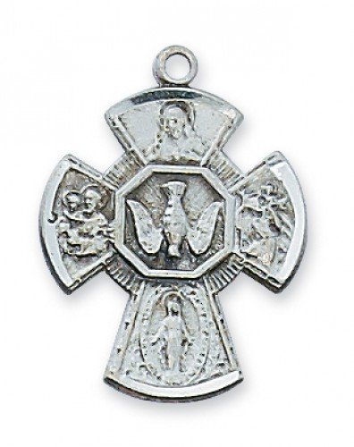 Four Way Medal in Sterling Silver