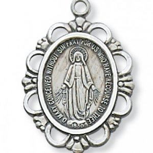Miraculous Medal in Sterling Silver
