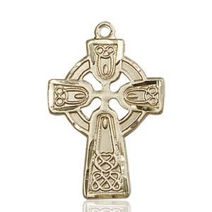 14kt Gold Celtic Cross Medal #87770