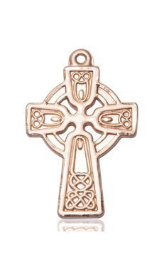 14kt Gold Celtic Cross Medal #88133