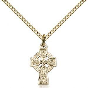 Gold Filled Celtic Cross Necklace #87589