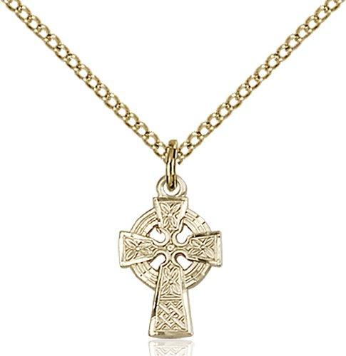 Gold Filled Celtic Cross Necklace #87589