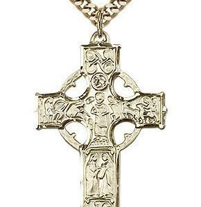 Gold Filled Celtic Cross Necklace #87692