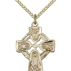 Gold Filled Celtic Cross Necklace #87768