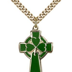 Gold Filled Celtic Cross Necklace #87772