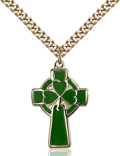 Gold Filled Celtic Cross Necklace #87772