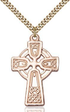 Gold Filled Celtic Cross Necklace #88131