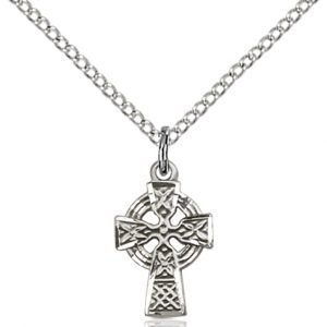 Sterling Silver Celtic Cross Necklace #87592