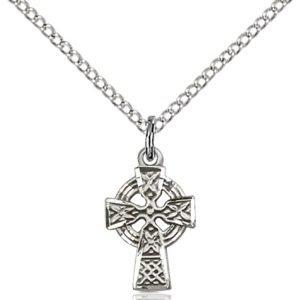 Sterling Silver Celtic Cross Necklace #87592