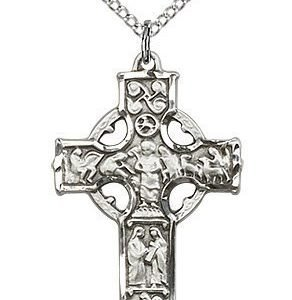 Sterling Silver Celtic Cross Necklace #87687