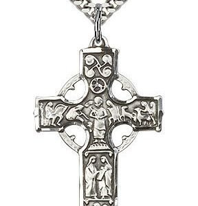 Sterling Silver Celtic Cross Necklace #87695