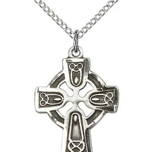 Sterling Silver Celtic Cross Necklace #87771