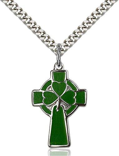 Sterling Silver Celtic Cross Necklace #87775