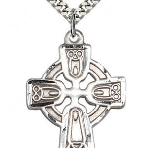 Sterling Silver Celtic Cross Necklace #88134