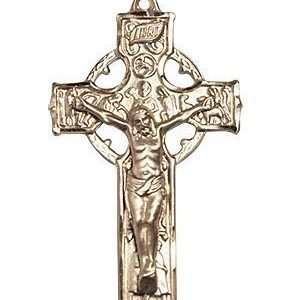 14kt Gold Celtic Crucifix Medal #87698