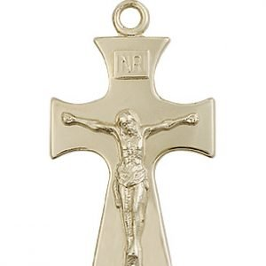 14kt Gold Celtic Crucifix Medal #87754