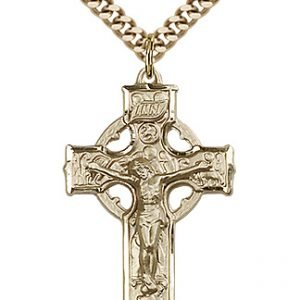 Gold Filled Celtic Crucifix Necklace #87688