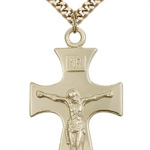 Gold Filled Celtic Crucifix Necklace #87752