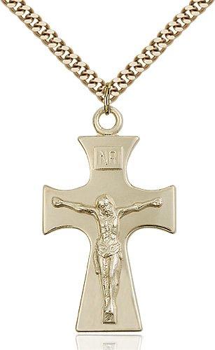 Gold Filled Celtic Crucifix Necklace #87752