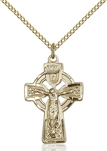 Gold Filled Celtic Crucifix Necklace #87760