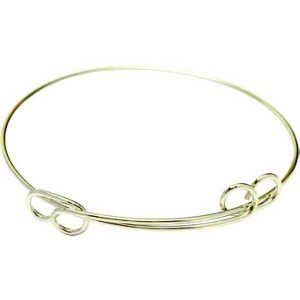 Charm Bracelet Round Double Loop in Hamilton Gold