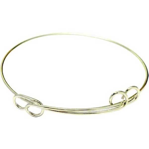 Charm Bracelet Round Double Loop in Hamilton Gold