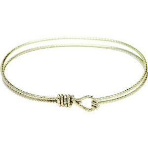 Charm Bracelet - textured Hamilton Gold Bangle Bracelet