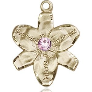 Chastity Medal - June Birthstone - 14 KT Gold #88158