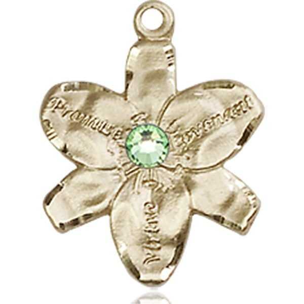 Chastity Medal - August Birthstone - 14 KT Gold #88160