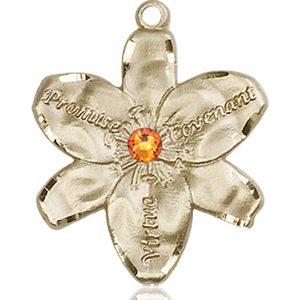 Chastity Medal - November Birthstone - 14 KT Gold #88188