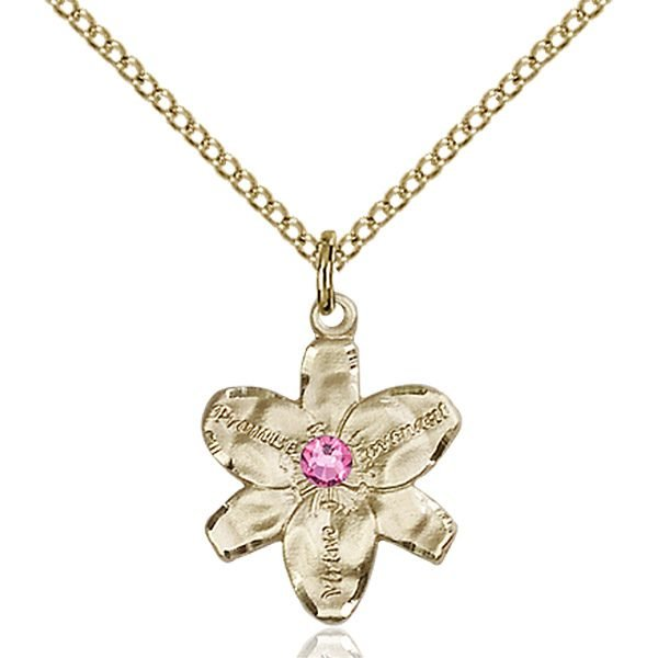 Chastity Pendant - October Birthstone - Gold Filled #88139