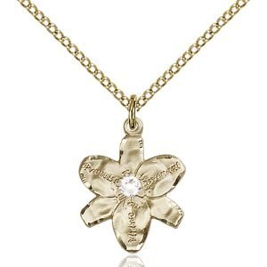 Chastity Pendant - April Birthstone - Gold Filled #88144