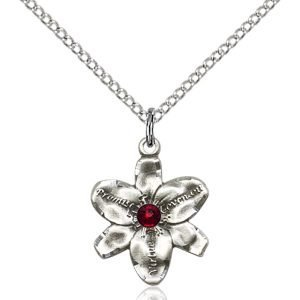 Chastity Pendant - January Birthstone - Sterling Silver #88162
