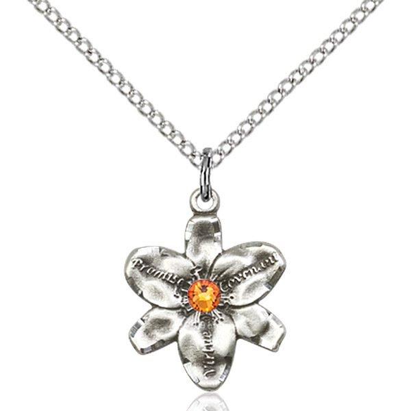 Chastity Pendant - November Birthstone - Sterling Silver #88164
