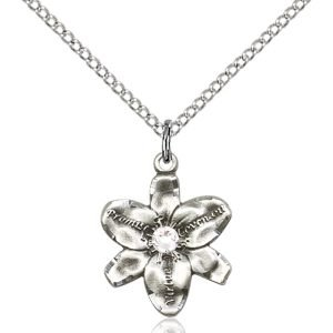 Chastity Pendant - April Birthstone - Sterling Silver #88168
