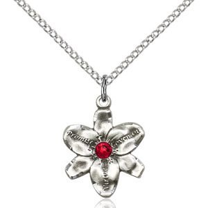 Chastity Pendant - July Birthstone - Sterling Silver #88171