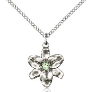 Chastity Pendant - August Birthstone - Sterling Silver #88172