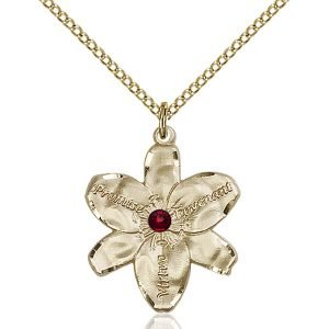 Chastity Pendant - January Birthstone - Gold Filled #88174