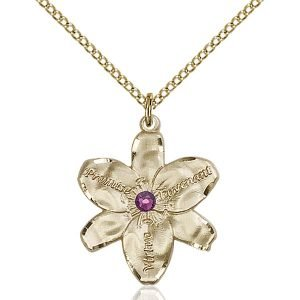 Chastity Pendant - February Birthstone - Gold Filled #88178