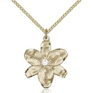 Chastity Pendant - April Birthstone - Gold Filled #88180