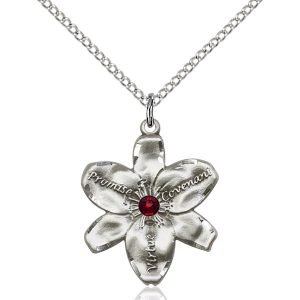 Chastity Pendant - January Birthstone - Sterling Silver #88198