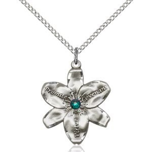 Chastity Pendant - May Birthstone - Sterling Silver #88205