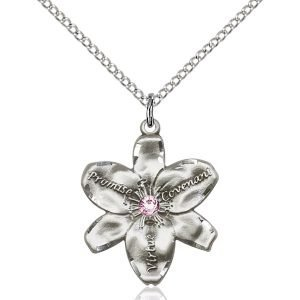 Chastity Pendant - June Birthstone - Sterling Silver #88206