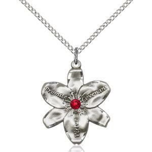 Chastity Pendant - July Birthstone - Sterling Silver #88207