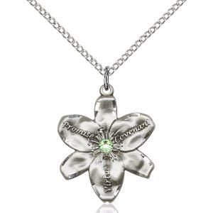 Chastity Pendant - August Birthstone - Sterling Silver #88208