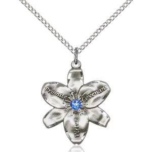 Chastity Pendant - September Birthstone - Sterling Silver #88209