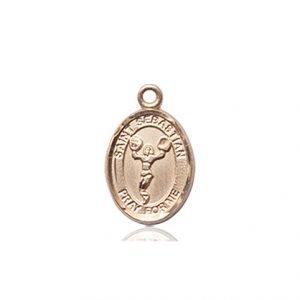 14kt Gold St. Sebastian/Cheerleading Medal