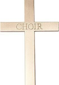 14kt Gold Choir Cross Medal #87850