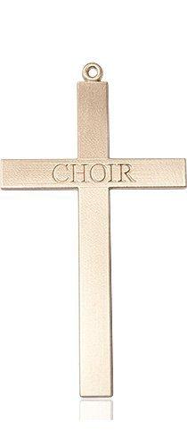 14kt Gold Choir Cross Medal #87850