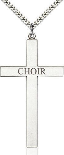 Sterling Silver Choir Cross Necklace #87851